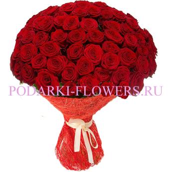 Букет «Теплые воспоминания» - 51 красная роза