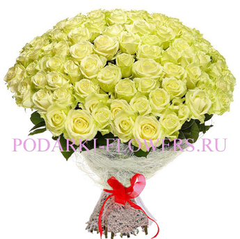 Букет «Само совершенство» - 101 белая роза