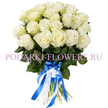 Букет «Снежная королева» - 35 белых роз