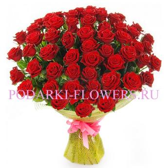 Букет роз «Тропический остров» 51 шт./ 101 шт.