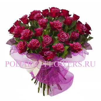Букет роз «Очарование» 51 шт./ 101 шт.