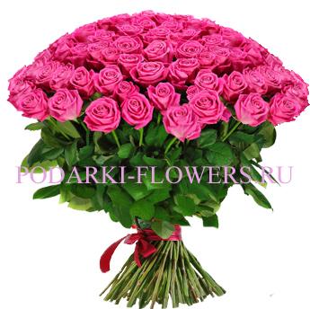 Букет «Утро любви» - 101 розовая роза