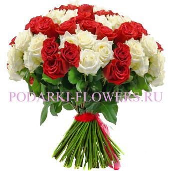 Букет «Признание в любви» - 101 роза (микс)