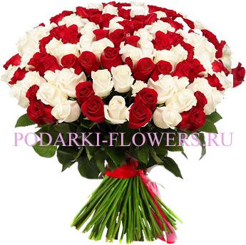 Букет «Прекрасная мечта» - 101 роза (микс)