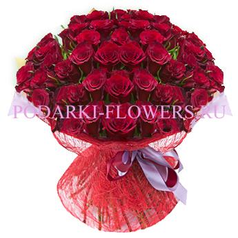 Букет роз «Неописуемый» 51 шт./ 101 шт.