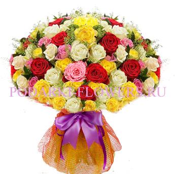 Букет роз «Чистая красота» 101 шт./151 шт./201 шт.