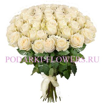 Букет «Второе дыхание» - 51 белая роза