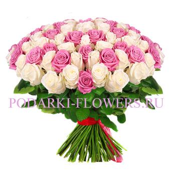 Букет «Очень чувственный» - 101 роза (микс)