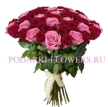 Букет роз «Красотка» 51 шт./ 101 шт.