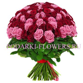 Букет «Сладкоежка» - 101 роза (микс)