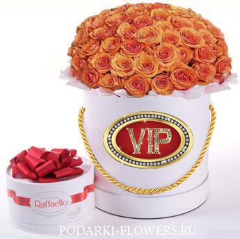 """Букет роз """"Мечта"""". 29-61 шт. Цветы в шляпной коробке"""