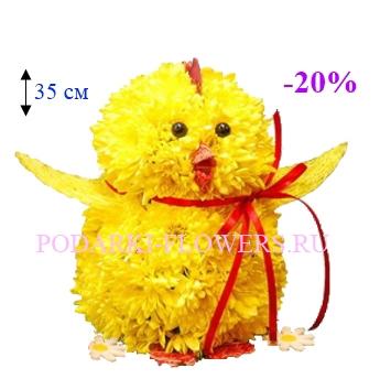 Цыпленок из живых цветов