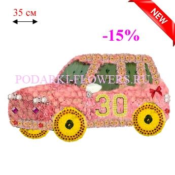 Автомобиль из живых цветов