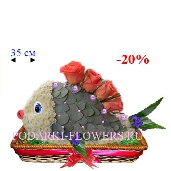 Рыбка из живых цветов