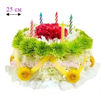 Торт из живых цветов